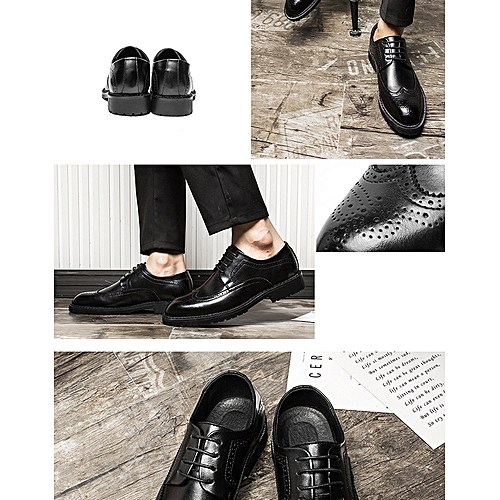 3f17640889 Generic Fashion Block Carved Leather Shoes Business Leisure Tip Men s  Single Shoes Model 830-C