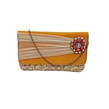 Silk Clutch with Tissue Ribbon - Orange