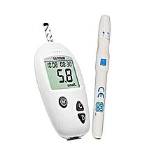 Blood Glucose Meter Blood Sugar Monitor Portable White Plastic Test Health Pen Elder Monitoring System