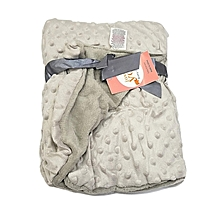 Super Soft Baby Double Layer Receiving Blanket / Shawl  -  Grey