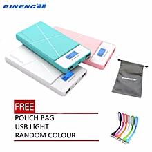 (FREE POUCH AND USB LIGHT-RANDOM COLOUR) Pineng PN-983 PN983 PN 983 10000mah powerbank BGmall