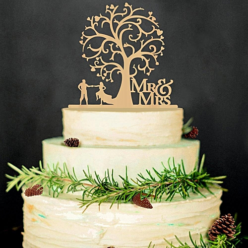 Mr Mrs Wedding Cake Topper Card Board Favors Supplies