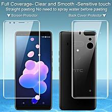 Imak 2pcs Clear Hydrogel Film for HTC U12 Plus Full Cover Back Screen Protector