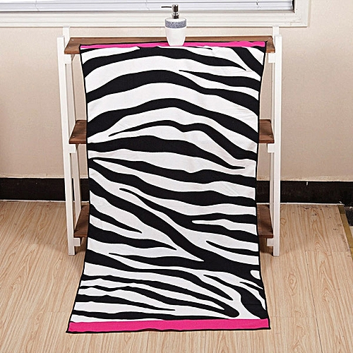 Generic 70x140cm Microfiber Soft Zebra Stripe Pattern Beach Bath Towels Absorbent Quick Dry Washcloth @ Best Price | Jumia Kenya