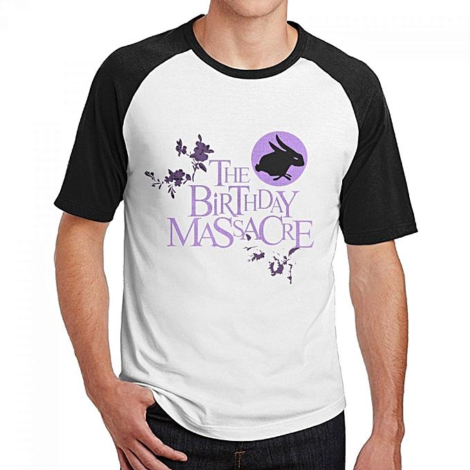 The Birthday Massacre Mens Cotton Short Baseball Raglan Sleeves T Shirt Black
