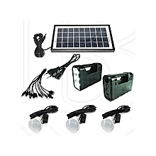 GD 8017 Solar lighting system with LED Lights, 3 BULBS and Phone Multi-Charger