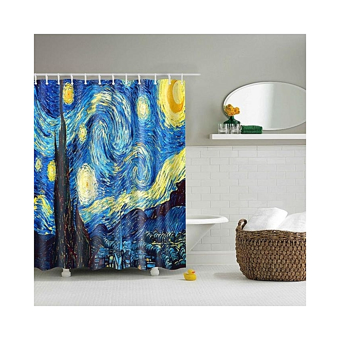 Kitchen Curtains In Kenya: Bathroom Shower Curtain Sheer Waterproof Panel 180*180cm W