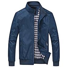 Men Casual Loose Jacket - Blue