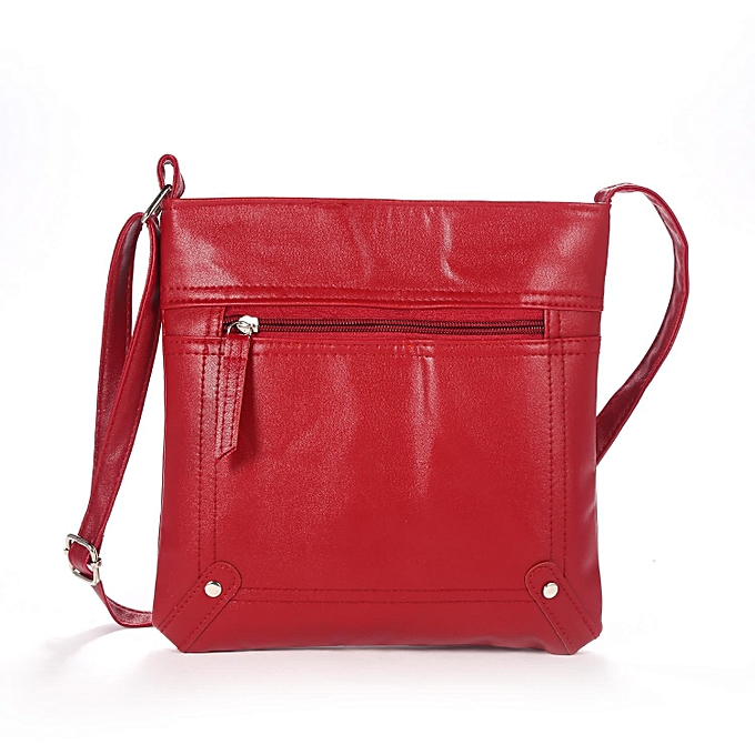 Women Adjule Strap Zipper Pockets Messenger Bag Purse Shoulder Handbags Array