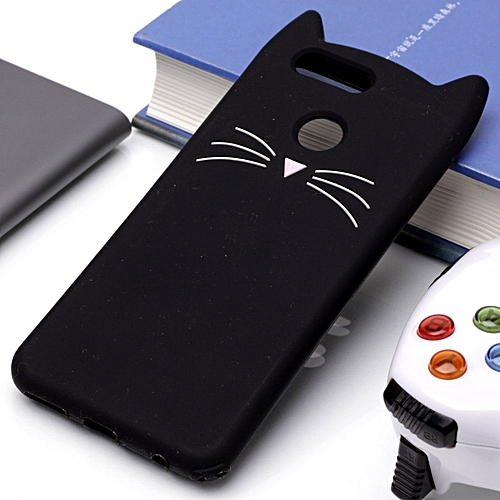huge selection of 0490c 0ce87 For Huawei nova 2 Plus Silicone Cat Whiskers Pattern Protective Back Cover  Case(Black)