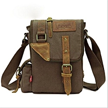 AUGUR Men's Canvas Casual Bag Single Shoulder Messenger Bags Korean Style Business Pouch Bags(Army Green)