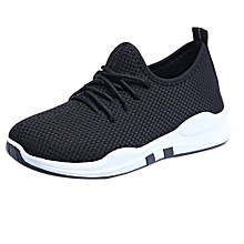 huskspo Women Running Trainers Lace Up Flat Comfy Fitness Gym Sports Shoes Casual Shoes
