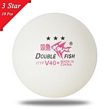 10pcs/set Double Fish V40+ 3 Stars Table Tennis Balls ABS Polymer Balls