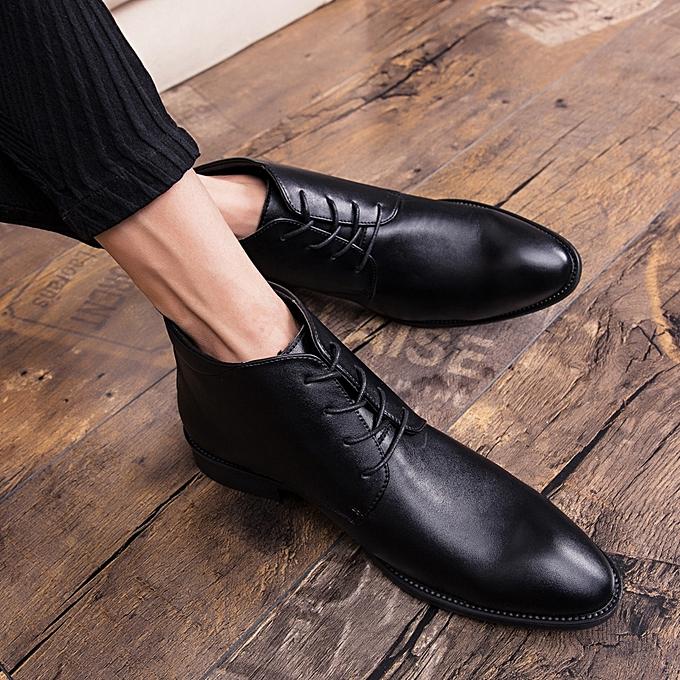ec7e3d4fe7b EUR Size 38-46 Boots Men Chelsea Boots Fashion High Quality Men Shoes Split  Leather Boots for Men