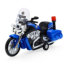 Children Boys Alloy Motorcycle Model Car High Simulated Patrol Car Model With Sound Light Style:Random Color