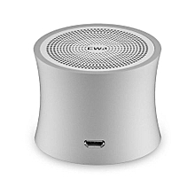 EWA Bluetooth Speakers With Hands Free Calls Stereo Portable Speaker Heavy Bass-Silver