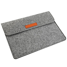High Quality Wool Felt Laptop Sleeve Bag Case For MacBook Pro 13.3 inch Gray