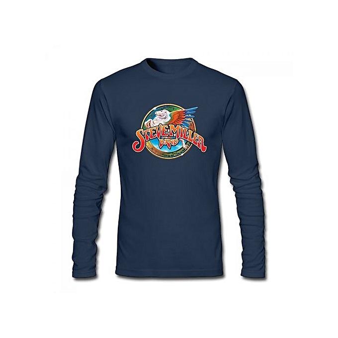 53c0116dc Generic Steve Miller Band Men's Cotton Long Sleeve T-shirt Blue ...