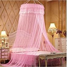 Round Double Decker Mosquito Net - Free Size - Pink (Round)