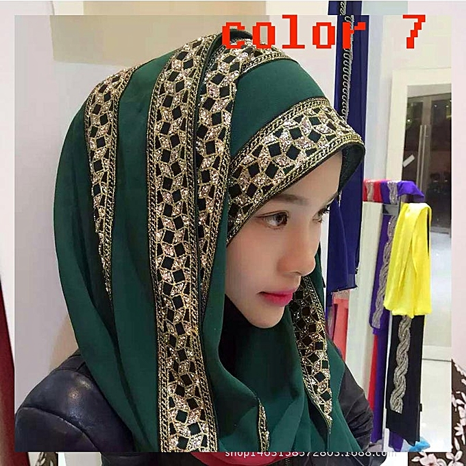 7b80053729b Fashion Women Muslim Inner Hijabs Caps Islamic Underscarf Hats Arabic  Headwear Muslim Scarf Hijab Hot Sale
