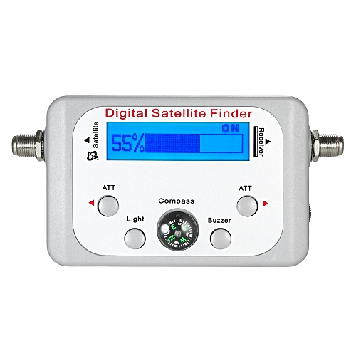 Mini Digital Satellite Signal Finder Meter Digital Satellite Finder  Satellite Signal Meter with LCD Display Digital Satfinder with Compass  Buzzer