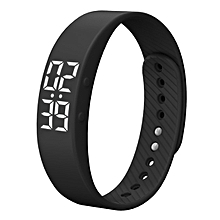 Sports IP67 Fitness Tracker Smart Bracelet w/ Alarm Clock - Black