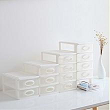 Plastic Drawer Type Multi-layer Desktop Storage Box white