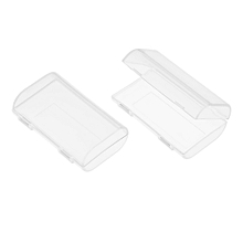 2PCS Transparent AA Battery Storage Boxes Cases High-quality Containers Durable Plastic Battery Holders with Lids Holds 2 * 2 AA Batteries