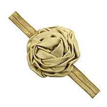 Europe And America Kids Handmade Flowers Headband Rose Hair Band For Baby Girls Color:Khaki