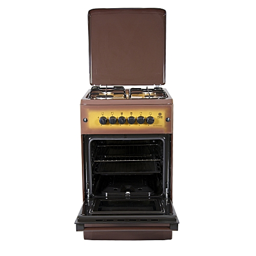 MST55PIAGDB/SD - Standing Cooker, 4Gas Burners, Gas Oven - Brown + Free Tray