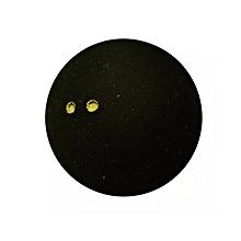 Double Yellow Dot Squash Ball - Black