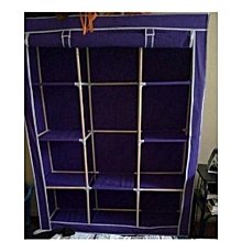 Portable Wardrobe - 3 Columns - 130*170*45 - Navy Blue