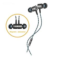 Plextone X41M In-Ear Earphone Headset w/ Mic - Silvery Grey