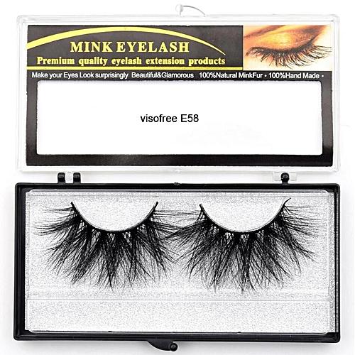 4184e0ce9e0 Generic Eyelashes Mink Eyelashes Criss-cross Strands Cruelty Free High  Volume Mink Lashes Soft Dramatic Eye lashes E80 Makeup(visofree E58)