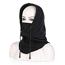 Unisex Windproof Motorcycle Bicycle Face Mask Neck Cap Thermal Fleece Hat Black