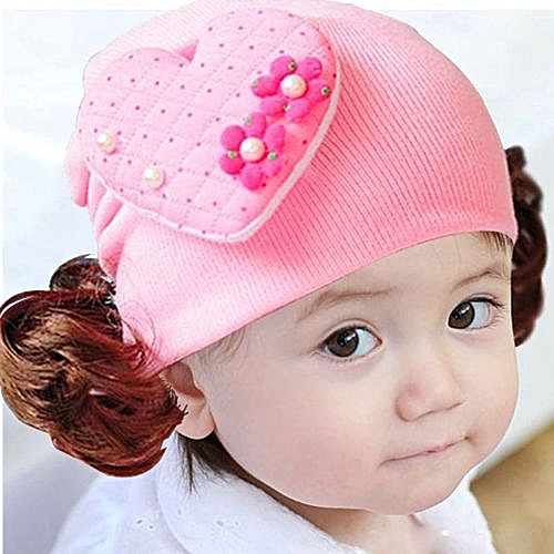 Fashion Zetenis Love Heart Toddlers Infant Baby Headband Hair Band Headwear  Wig Hat PK 78eb18ae777