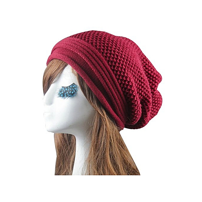 Knit Winter Warm Women Men Hip-Hop Beanie Hat Baggy Unisex Ski Cap Skull f1efc56fa9bb