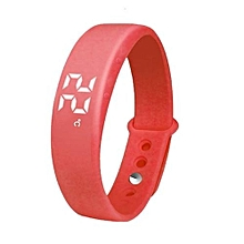 W5 Smart Watch Pedometer Counter Calories Tracing Sports Bracelet(Red)