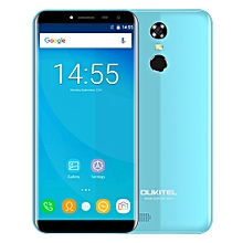 OUKITEL C8 3G Phablet 5.5 inch 2.5D Arc Screen Android 7.0 MTK6580A 1.3GHz Quad Core 2GB RAM 16GB ROM Fingerprint Scanner 8.0MP Rear Camera - BLUE