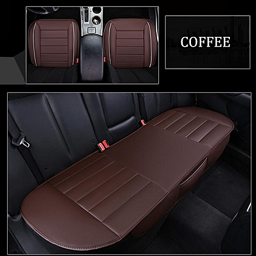 3piece Car Seat Cushion PU Leather 3D Full Surrounded Protector Universal Dark Brown