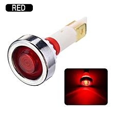 10mm LED Indicator Light Car Truck Boat Yacht Signal Lamp Pilot Dashboard Panel Warning Lamp 12V Red