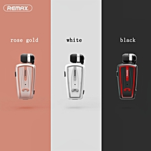 Remax RB-T12 Collar Clip On Voice Prompt Retract Cable Bluetooth Earphone Headset