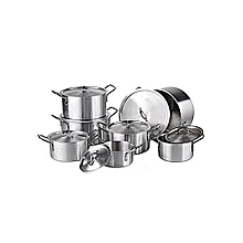 Aluminum Cooking Pots- 7-Pieces with no Lids