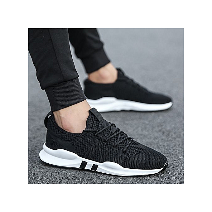 67625cc7a5be Breathable Running Shoes Sneakers Men Casual Athletic Trainers Black