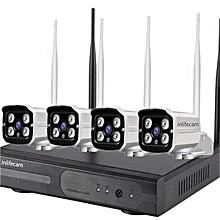 4ch 720p cctv camera kit wireless nvr kit wifi ip kit security surveillance cctv kit DIY Plug and play waterproof