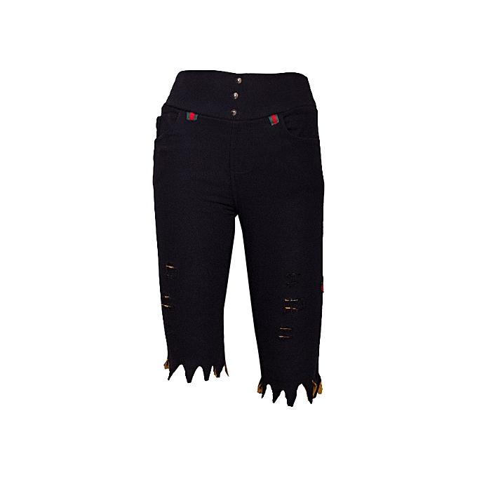 Girls and women s black ripped shorts medium size (stretch) rugged shorts 8bb5b896699e