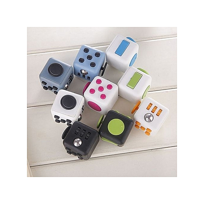 Reduce Pressure Fidget Cube Stress Relief Magic 6 Side Dice For Family Adults Kids