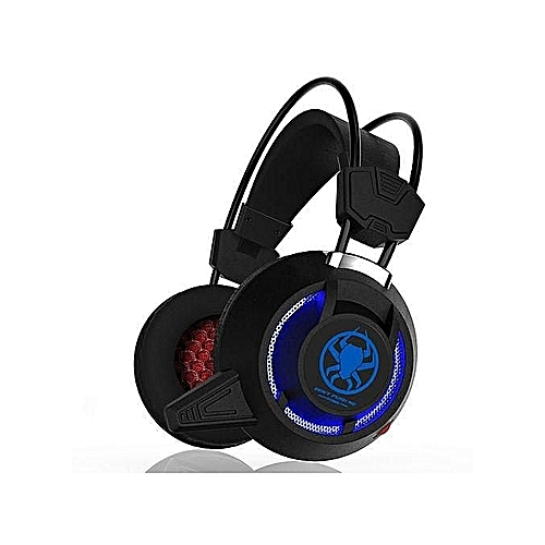 Gaming Headset - Light Headset For Ps4, Xbox ,PC with HD Microphone 2.2 m Cable (black with light)