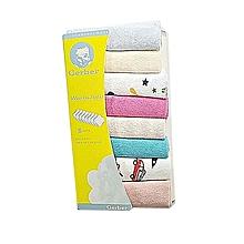 8 Pieces Assorted Color Baby Infant Newborn Washcloth/ Bath towel .