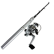 Fishing Rod Mini Portable Telescopic (Silver)-